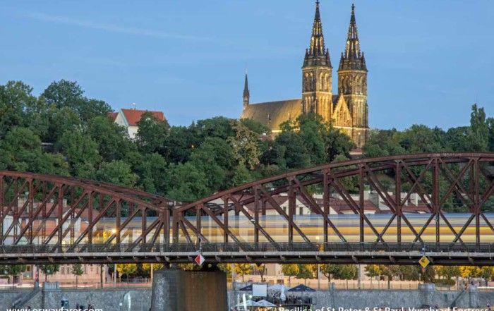 Travel eBook Structure: Železniční Most Railway-Bridge and Basilica Saint Peter and Saint Paul from one of our travel ebooks (Prague)