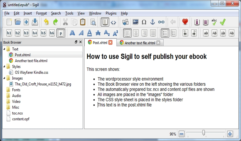 SIGIL The EPUB Editor: How to use it to prepare your eBook